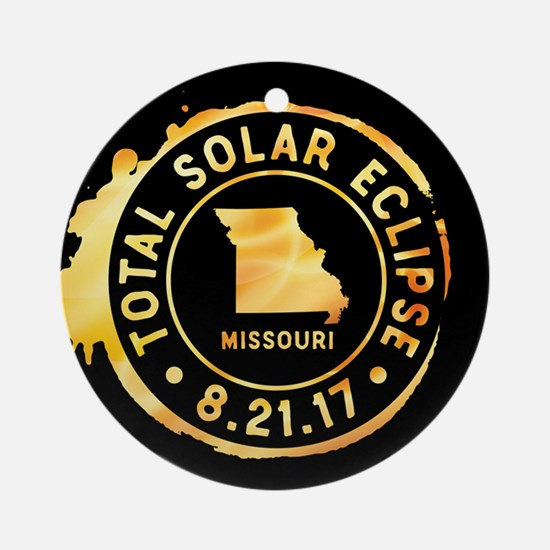 Eclipse Missouri Round Ornament