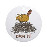 Dam It! Ornament (Round)