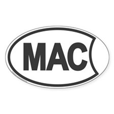Mac Oval Sticker
