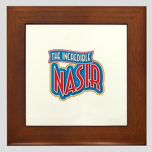 The Incredible Nasir Framed Tile