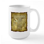 Celtic Letter T Large Mug