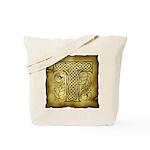 Celtic Letter T Tote Bag