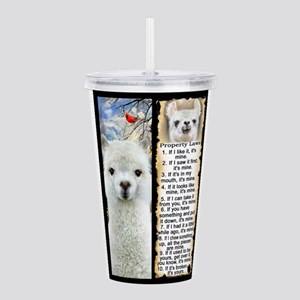 LLAMA Rules LLAMA LOVE Acrylic Double-wall Tumbler