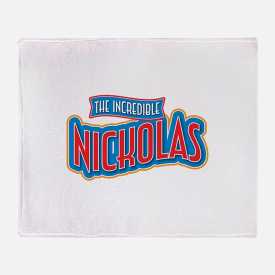 The Incredible Nickolas Throw Blanket