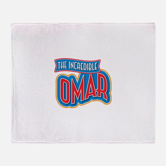 The Incredible Omar Throw Blanket