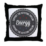Support The Keystone Pipeline Throw Pillow