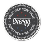 Support The Keystone Pipeline Round Car Magnet