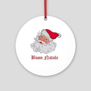Italian Santa Ornament (Round)