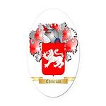 Chevreau Oval Car Magnet