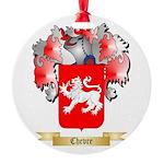 Chevre Round Ornament