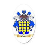 Chevin Oval Car Magnet