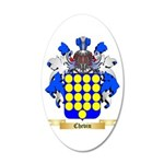 Chevin 20x12 Oval Wall Decal