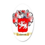 Cheverell Oval Car Magnet