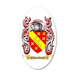 Chevalleret 35x21 Oval Wall Decal