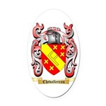Chevallereau Oval Car Magnet