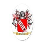 Chestnut Oval Car Magnet