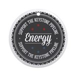 Support The Keystone Pipeline Ornament (Round)
