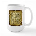 Celtic Letter R Large Mug