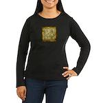 Celtic Letter R Women's Long Sleeve Dark T-Shirt