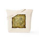 Celtic Letter R Tote Bag