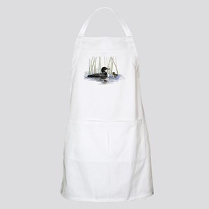 Loon and baby Apron