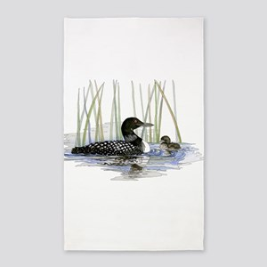 Loon and baby 3'x5' Area Rug