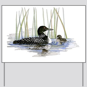 Loon and baby Yard Sign
