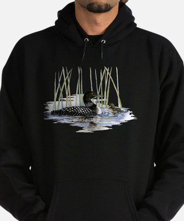 Loon and baby Hoodie