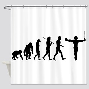 Rings Gymnast Shower Curtain