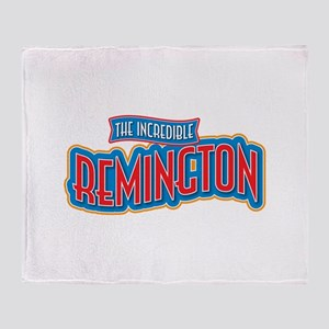 The Incredible Remington Throw Blanket