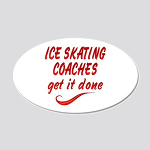 Ice Skating Coaches 20x12 Oval Wall Decal