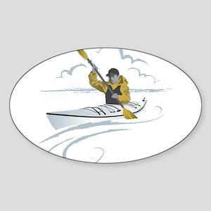 Kayak Guy Sticker