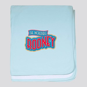 The Incredible Rodney baby blanket