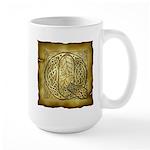 Celtic Letter Q Large Mug