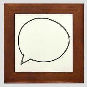 Speech Bubble Framed Tile