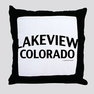 Lakeview Colorado Throw Pillow