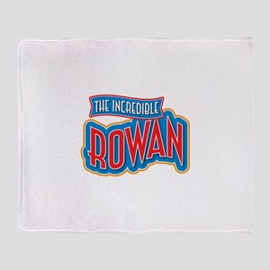 The Incredible Rowan Throw Blanket