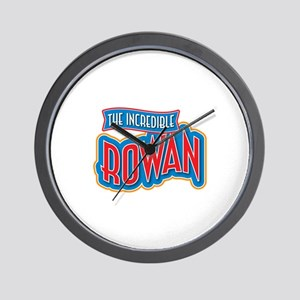 The Incredible Rowan Wall Clock
