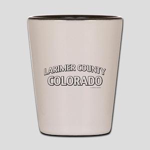 Larimer County Colorado Shot Glass
