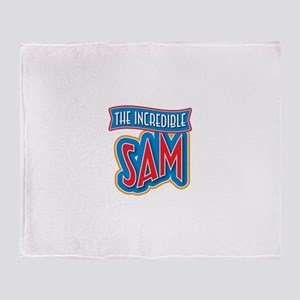 The Incredible Sam Throw Blanket
