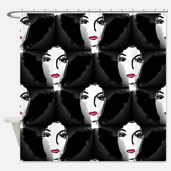 Riyah-Li Designs Afro Shower Curtain