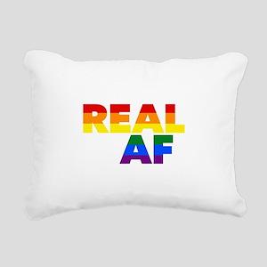 Real AF Gay Pride Rectangular Canvas Pillow