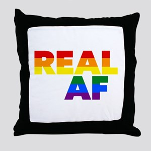 Real AF Gay Pride Throw Pillow