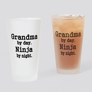 Grandma by day Drinking Glass