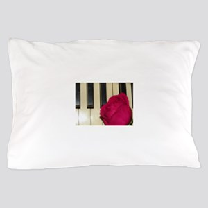 ROSE ON PIANO Pillow Case