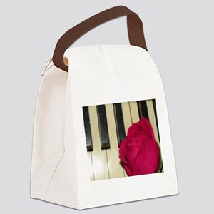 ROSE ON PIANO Canvas Lunch Bag
