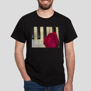 ROSE ON PIANO Dark T-Shirt