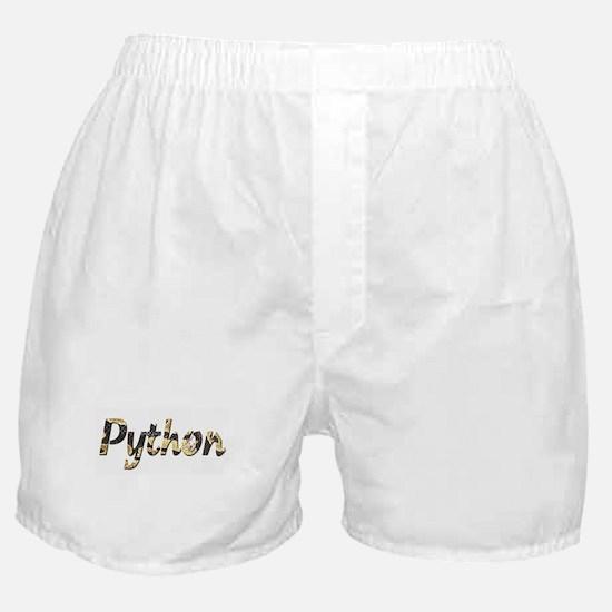 Snake Python Letters Boxer Shorts
