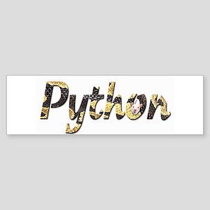 Snake Python Letters Bumper Sticker