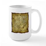 Celtic Letter P Large Mug